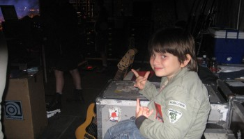 Back stage at Scorpions concert
